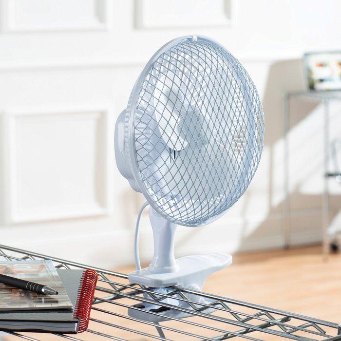 Dunelm Clip On 2in1 White Desk Fan White