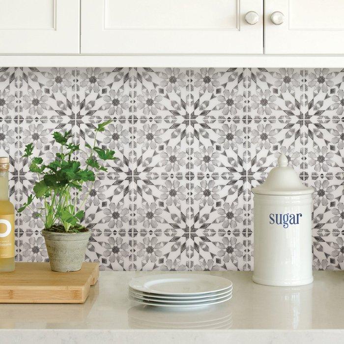 InHome InHome Catalan Self Adhesive Backsplash Tiles Grey