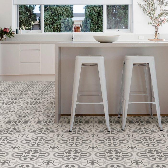 Floorpops Floorpops Remy Self Adhesive Floor Tiles Grey and White