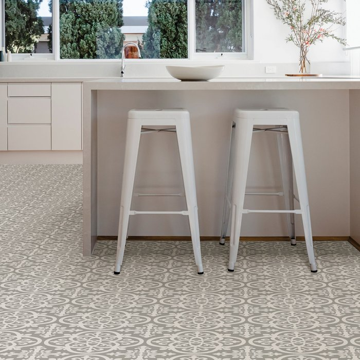 Floorpops Floorpops Medina Self Adhesive Floor Tiles Grey