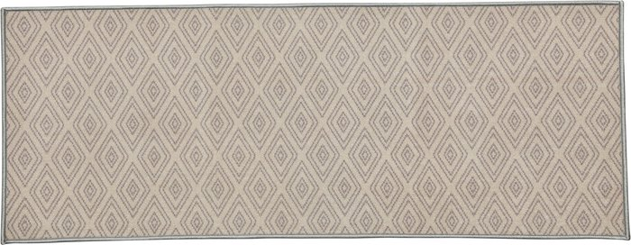 Dunelm Oslo Grey Geometric Washable Runner Grey