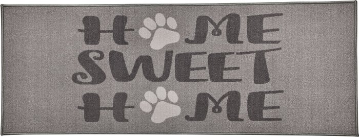 Dunelm Home Sweet Home Paws Washable Runner Grey