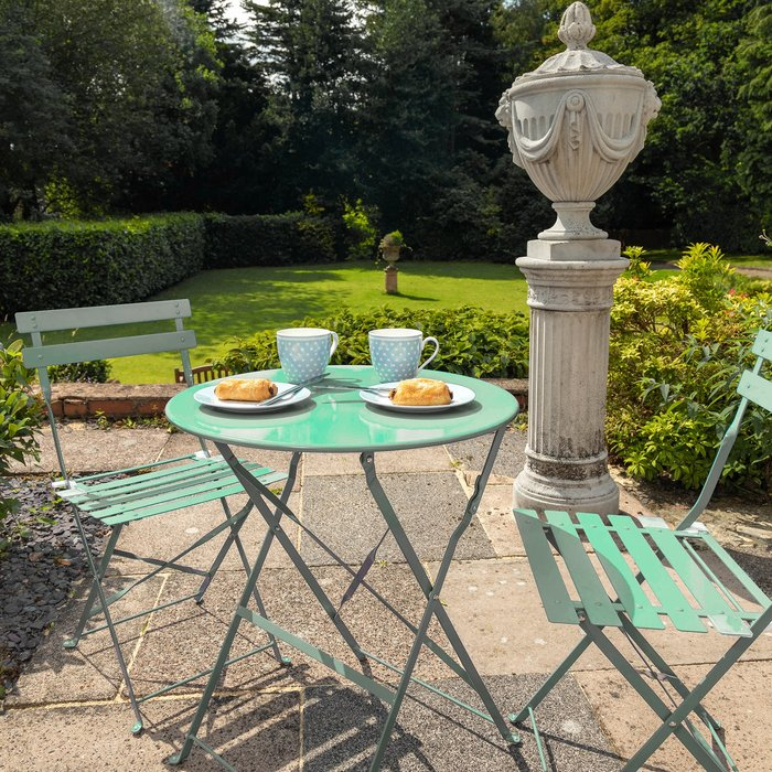 Royalcraft Padstow 2 Seater Sage Folding Bistro Set Green