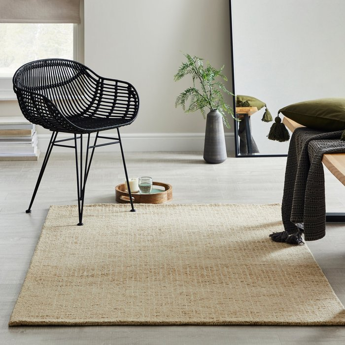 Dunelm Boucle Wool Rug Boucle Natural