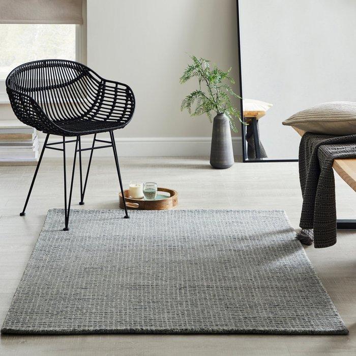 Dunelm Boucle Wool Rug Boucle Grey
