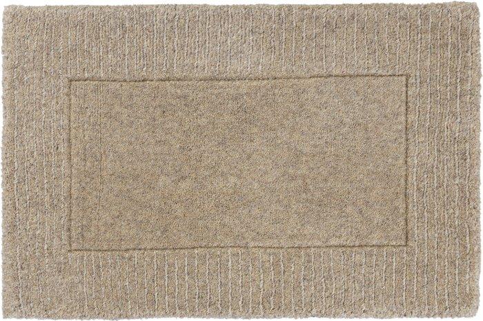 Dunelm Boston Wool Border Doormat Brown