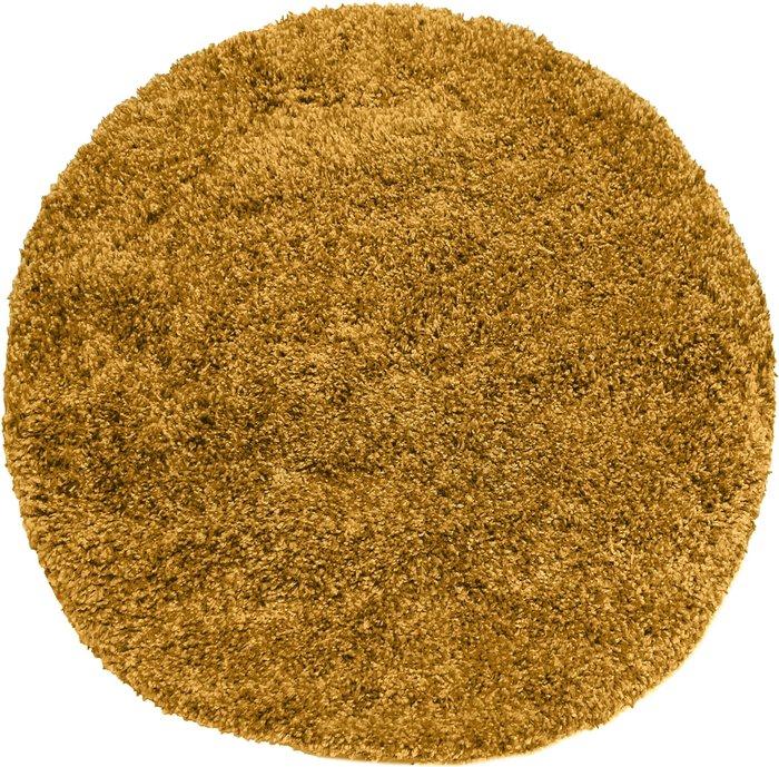 Dunelm Slumber Shaggy Circle Rug Yellow