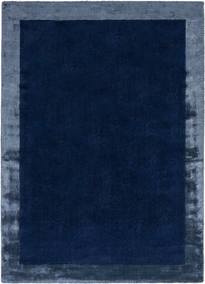 Dunelm Amaya Wool Rug Navy