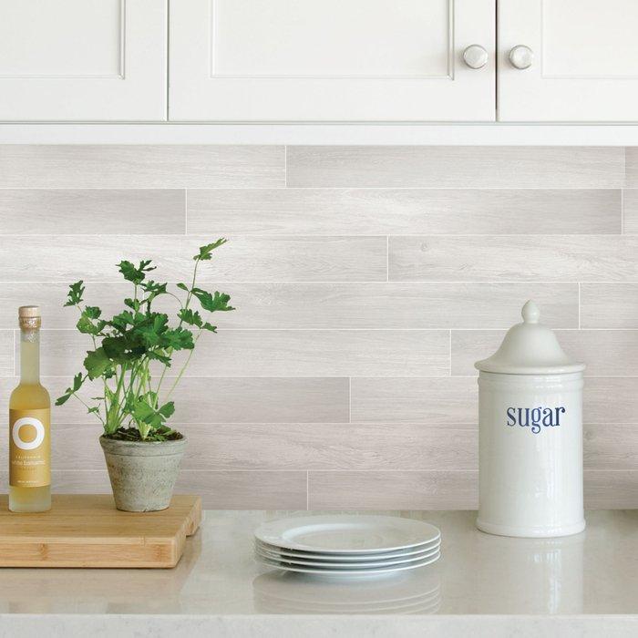 Dunelm Timber Grey Self Adhesive Backsplash Tiles Grey