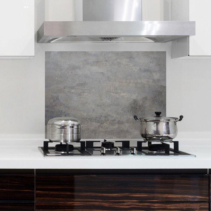 Dunelm Concrete Grey Self Adhesive Kitchen Panel Grey