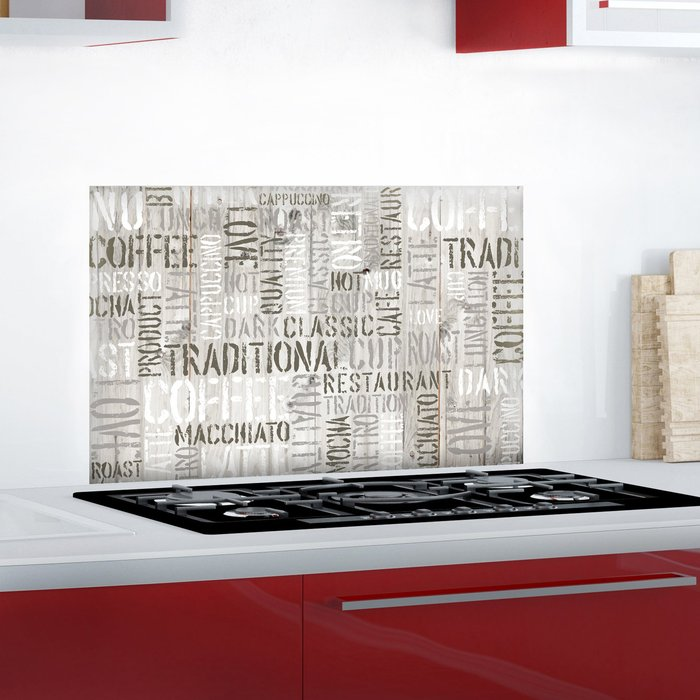 Dunelm Coffee Multicoloured Self Adhesive Kitchen Panel Grey and White