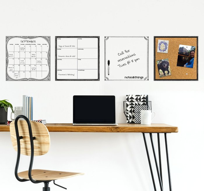 Dunelm White Dry Erase Organisation Board White
