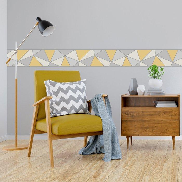 Fine Décor Wallpaper Apex Ochre Border Yellow
