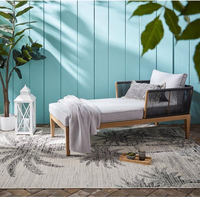 Dunelm Palm Tree Indoor Outdoor Rug Dark Cream (Natural)