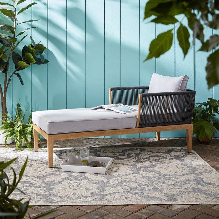 Dunelm Jasmine Indoor Outdoor Rug Light Grey