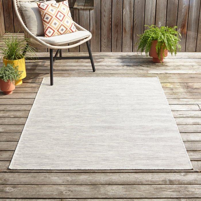 Dunelm Como Indoor Outdoor Rug Grey