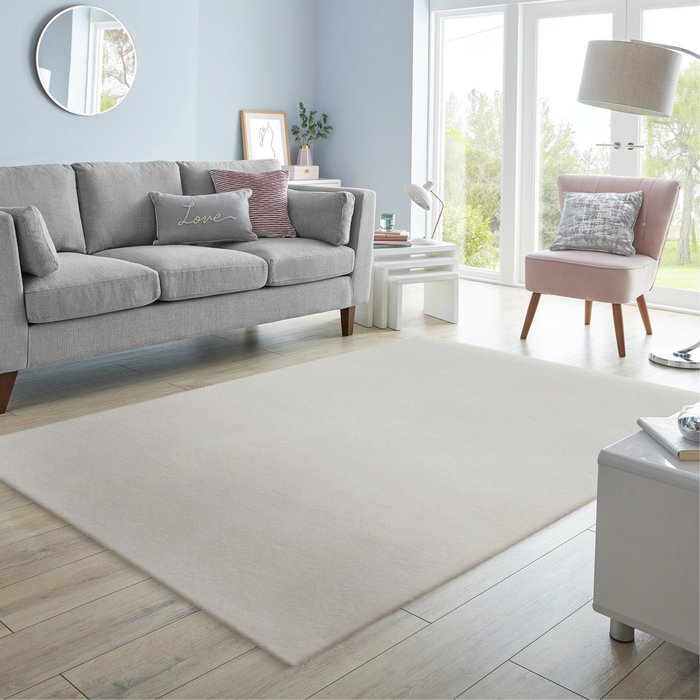 Dunelm Supersoft Lush Rug Ivory