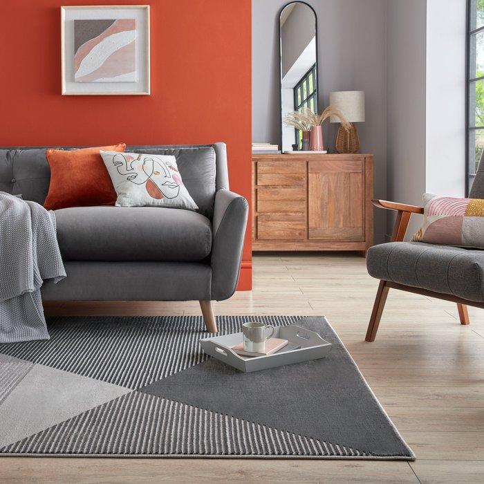 Dunelm Modern Texture Rug Modern Textured Grey