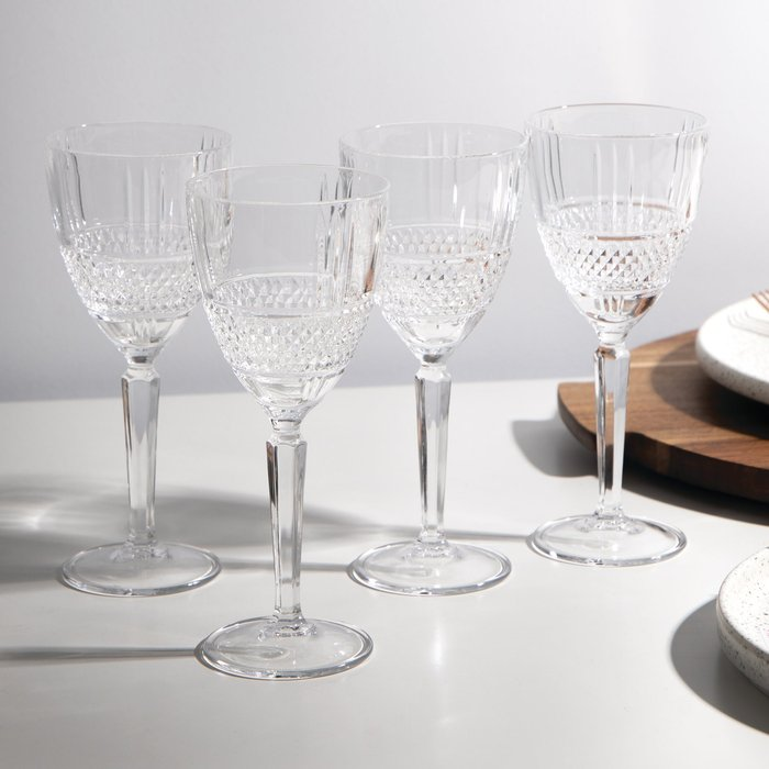 Dunelm Maxwell & Williams Verona 180ml Wine Glass Set of 4 Clear