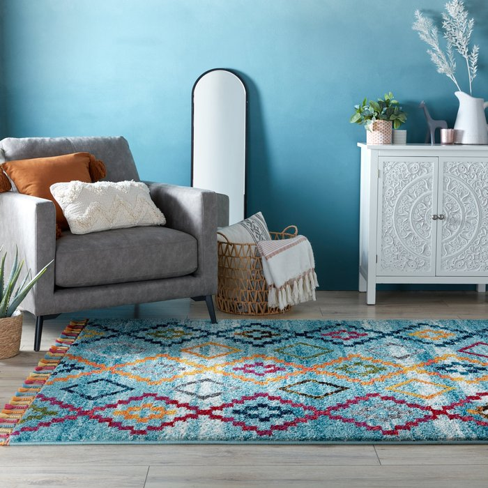 Dunelm Kasama Berber Rug MultiColoured