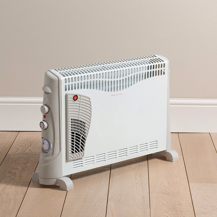 Dunelm Convector Heater With Turbo and Timer LCD White