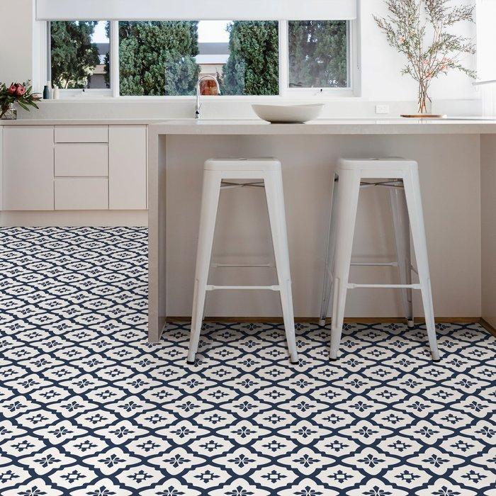 Floorpops Atlas Navy Floor Tile Navy