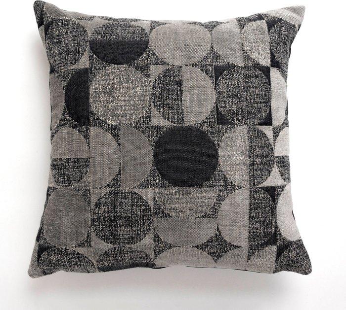 Dunelm Oscar Cushion Cover 43x43cm Charcoal Charcoal