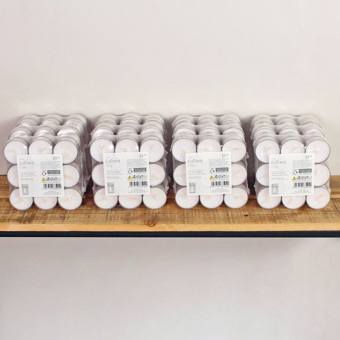 Dunelm Pack of 18 ECO Tealights White