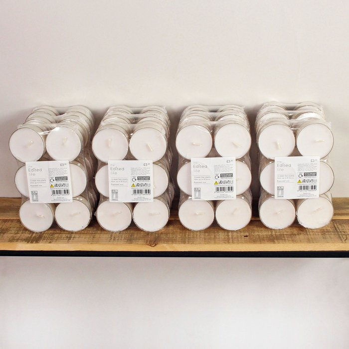 Dunelm Pack of 12 ECO Tealights White