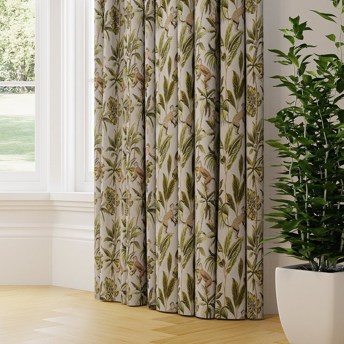 Made to Measure Monkey Made to Measure Curtains Monkey Printed Natural
