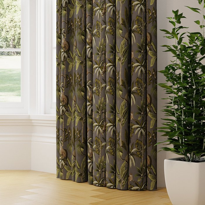 Made to Measure Monkey Made to Measure Curtains Monkey Printed Stone