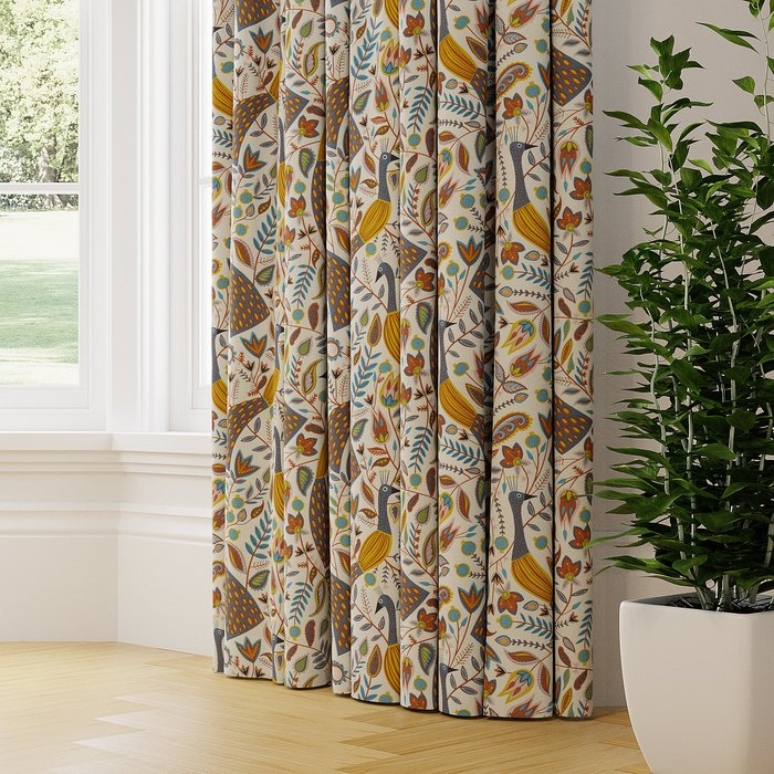 Made to Measure Peacock Made to Measure Curtains Peacock Ochre