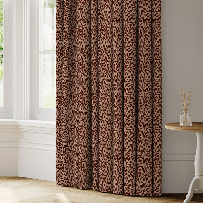 Made to Measure Willow Made to Measure Curtains Willow Rosso