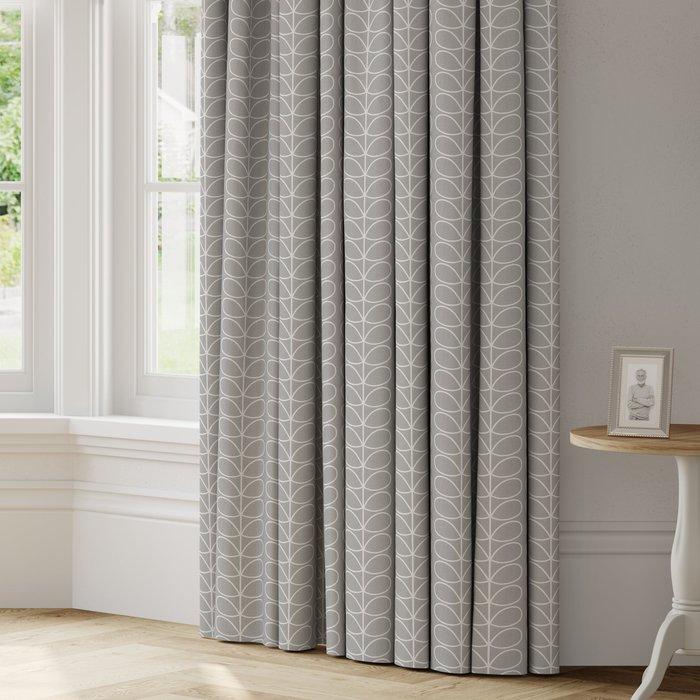 Made to Measure Orla Kiely Linear Stem Made to Measure Curtains Orla Kiely Linear Stem Silver