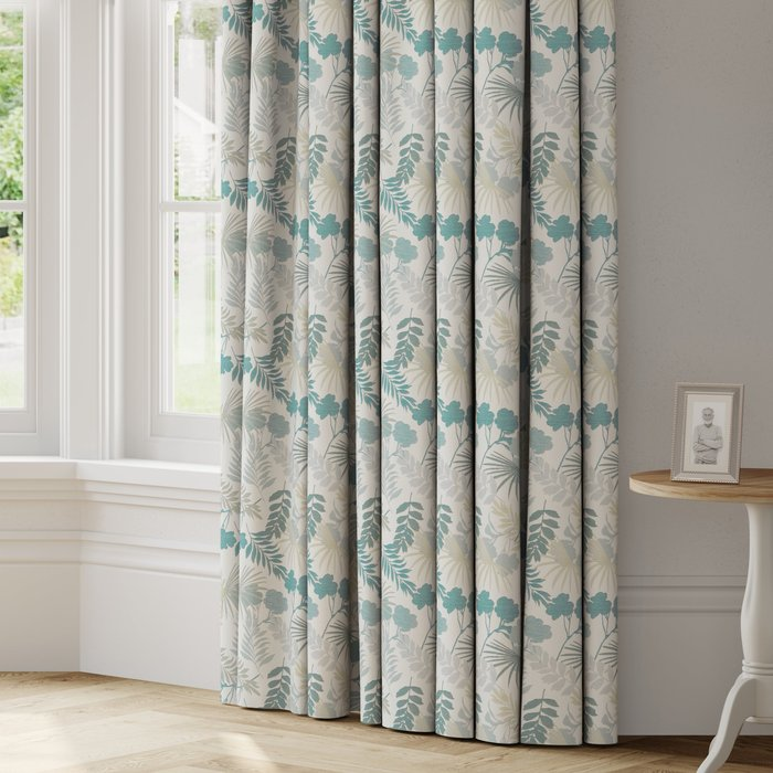 Made to Measure Tropical Made to Measure Curtains Tropical Seafoam