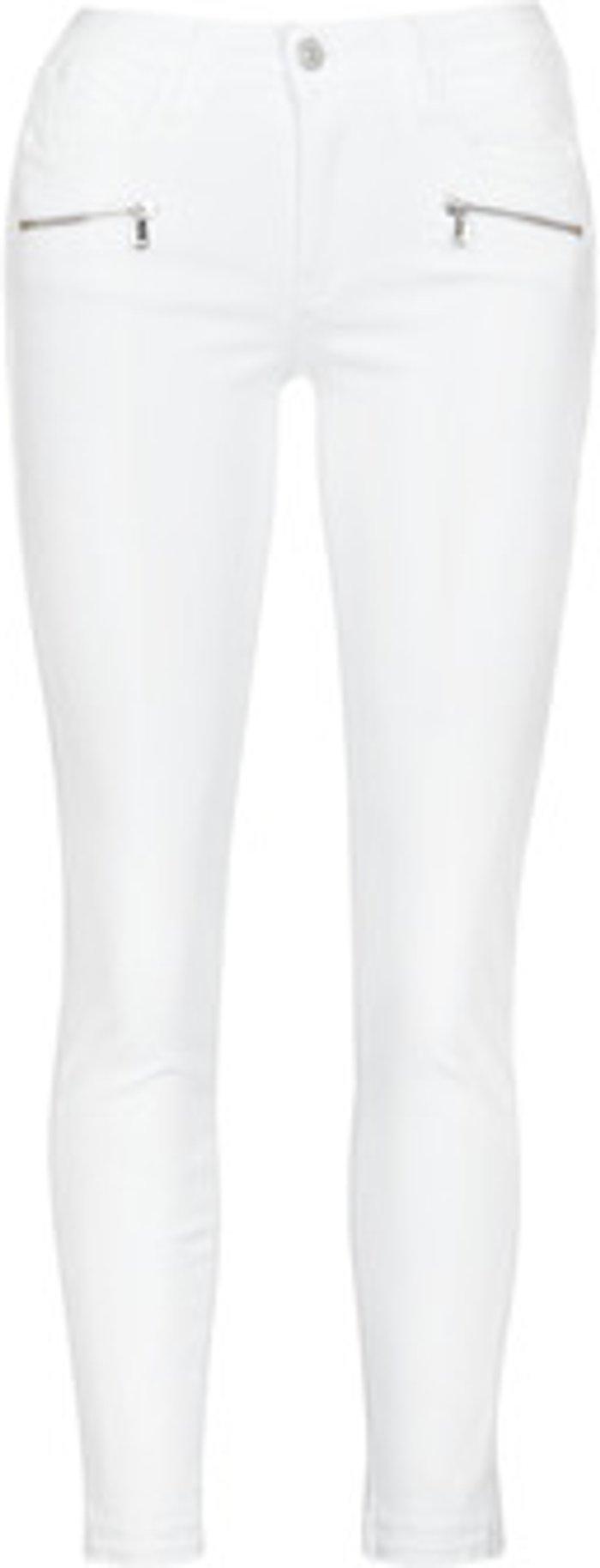 Le Temps des Cerises Le Temps des Cerises  KIEV SKINY7/8  women's  in White. Sizes available:US 28,US 29,US 30,US 26,US 24,US 25,US 31,US 32