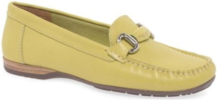 Charles Clinkard Charles Clinkard  Rosela Womens Moccasins  women's  in Yellow. Sizes available:3,4,5,6,7,8,9