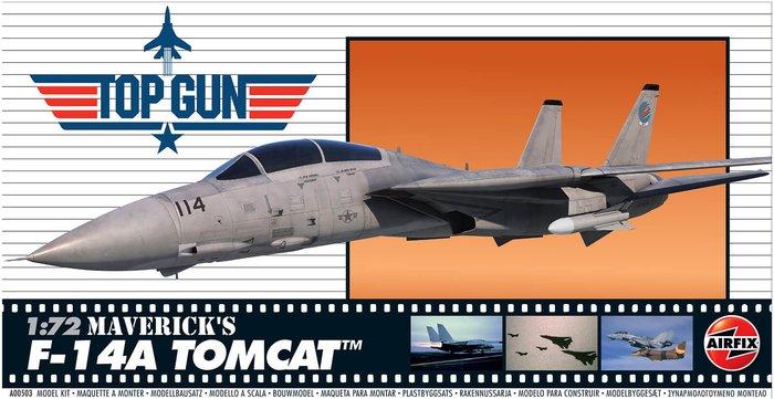 Airfix Top Gun Maverick's F-14A Tomcat Plastic Model Kit - Scale 1:72