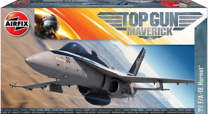 Airfix Top Gun Maverick's F-18 Hornet Plastic Model Kit - Scale 1:72