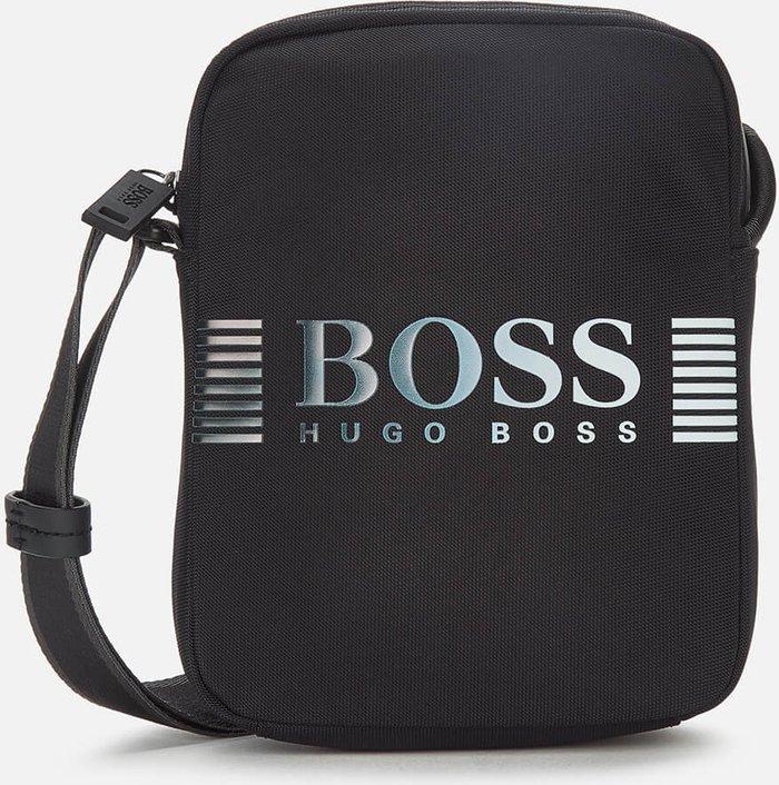 BOSS Hugo Boss BOSS Business Men's Recycled Nylon Messenger Bag - Black