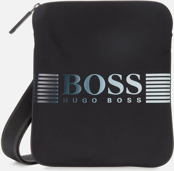 BOSS Hugo Boss BOSS Business Men's Recycled Nylon Envelope Bag - Black