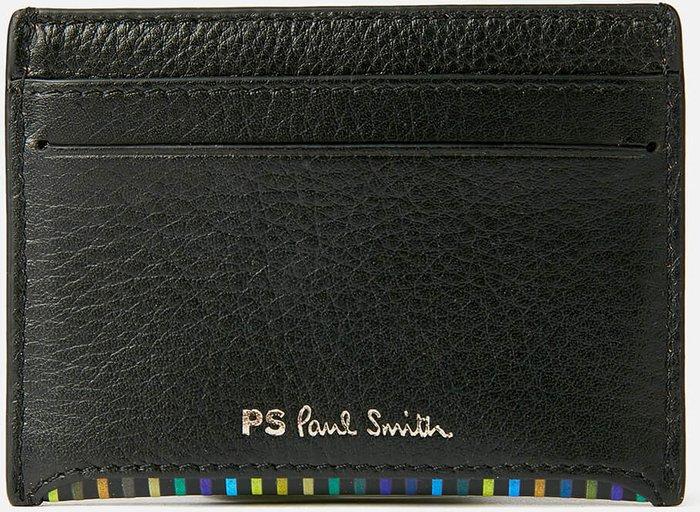 PS Paul Smith PS Paul Smith Men's Stripe Card Wallet - Black