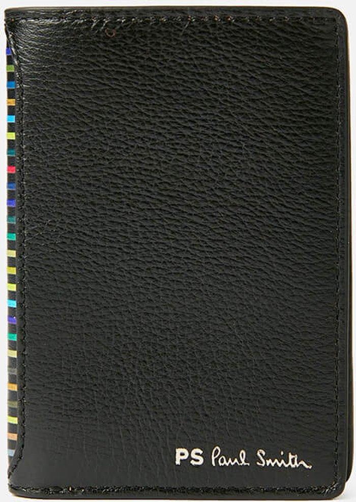 PS Paul Smith PS Paul Smith Men's Stripe Credit Card Wallet - Black