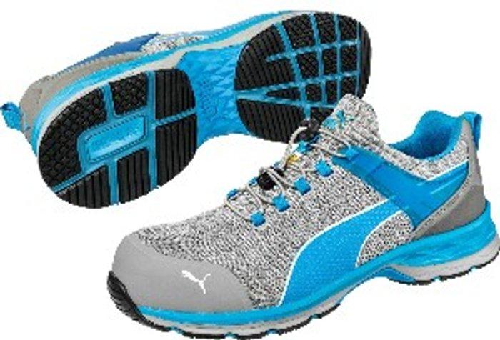 PUMA SAFETY Puma Safety Xcite Low Toggle Safety Shoe - Grey/Blue / 9.5