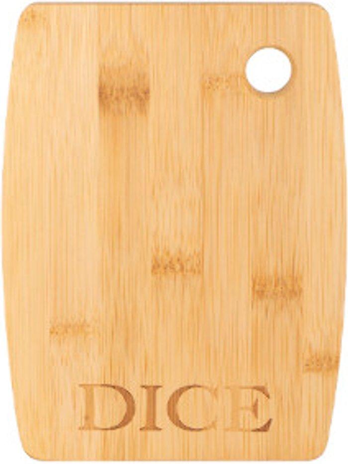 The Range Dice Slogan Bamboo Chopping Board