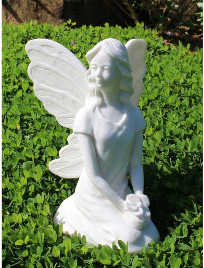Enigma Fairy Holding Flowers Garden Ornament