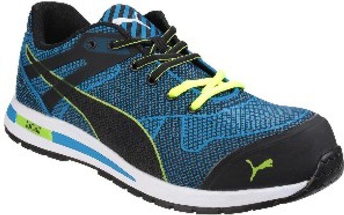PUMA SAFETY Blaze Knit Low Lace Up Safety Shoes - Blue / 7