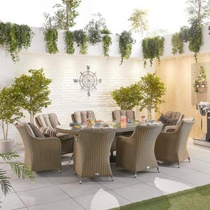 Nova Outdoor Living Camilla 8 Seater Rattan Oval Dining Set
