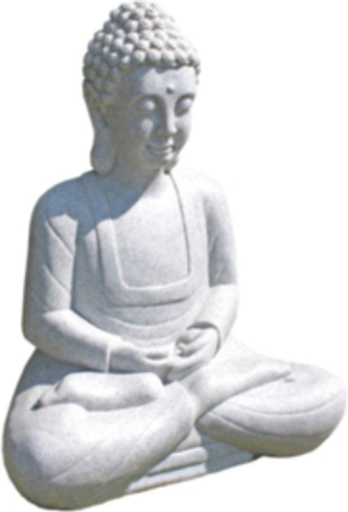 Enigma Meditating Buddha Granite Garden Ornament - 56cm