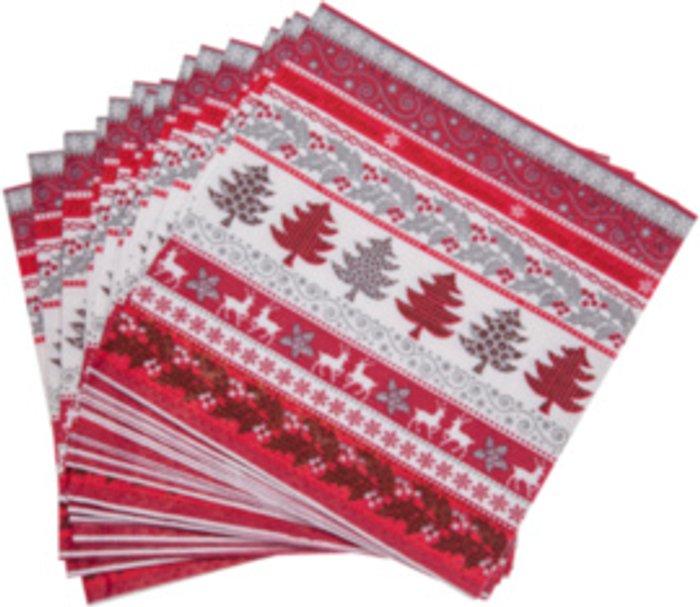 The Range Pack of 20 Merry Christmas Napkins